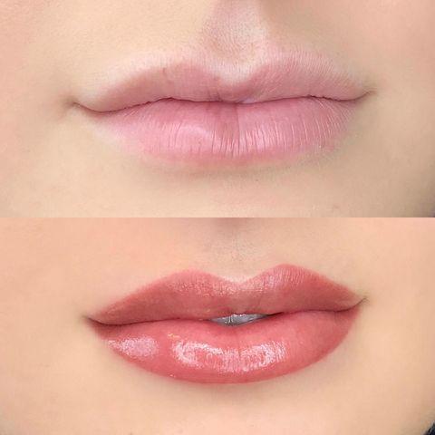 Blushing lip